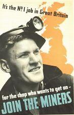 World War Two Coal Mining Recruitment Poster A3/A2 Print