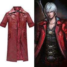 DMC Devil May Cry IV 4 Dante Halloween Cosplay Natale Costume Giacca Jacket Coat