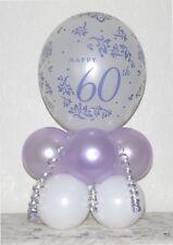 60th Anniversary Diamond Wedding - Table Display Balloon Kit - No Helium Needed