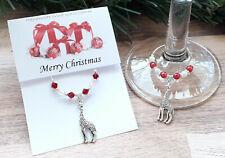 Giraffe - Animal Collection - Wine Glass Charm - Chrstmas Gift Stocking Filler