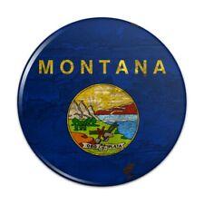 Rustic Montana State Flag Distressed USA Pinback Button Pin Badge