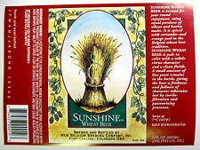 New Belgium SUNSHINE WHEAT BEER  beer label CO 22 oz - No URL