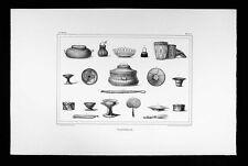 Debret Brazil Print - Vannerie - Basket Types of 19th Century Brazil