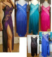 New Sexy Plus Size Criss Cross Lace Hi Slit long gown 1X 2X 3X 4X lingerie T2771