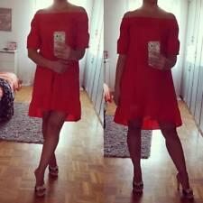 """Hailys Off-Shoulder Damen Kleid """"Lya"""" Rüschen Rot Gr. XS-XXL"""