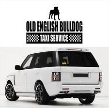 AYC Auto Aufkleber OLD ENGLISH BULLDOG Taxi Service Hunde Hund Siviwonder