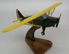 Interstate L-6 Grasshopper Airplane Wood Model FreeShip