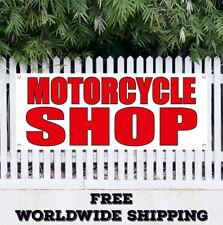 Motorcycle Shop Advertising Vinyl Banner Flag Sign Bike Shop Garage Bar Biker
