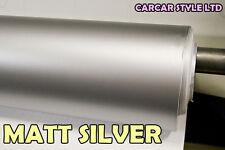 【SILVER】 MATT Vehicle Wrap Vinyl 0.3m x 1.52 Meter Air/ BUBBLE Free