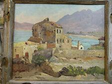 OSIETZKI (XIX-XXE SIÈCLE) Huile sur panneau Saint-Tropez
