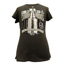 LA Kings NHL Hockey 2012 Final Champions Locker Room Womens Crew T Shirt Los C30