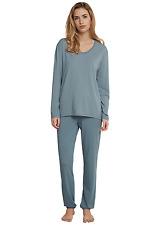 SCHIESSER Damen Pyjama lang Schlafanzug 36 38 40 42 44 46 48 50 S-5XL Longlife