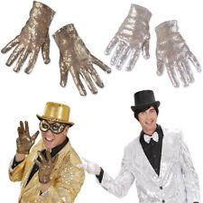 Pailletten Handschuhe Popstar Glitzerhandschuhe Glitzer Paillettenhandschuhe