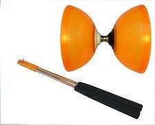 Henrys Vision Free Diabolo Orange mit Kugellager/Freilauf + Henys Alustäbe 325