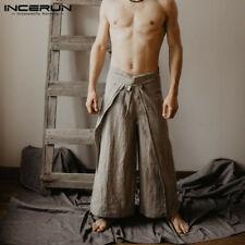 Fisherman Trousers Thai Wrap Flared Leg Sarong Long Pants Mens Womens Pants NEW