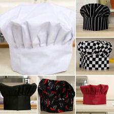 Comfy Cook Adjustable Men Kitchen Baker Chef Elastic Cap Hat Catering 16cm White