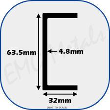 "Aluminium Channel (C U section, gutter, profile,edging,alloy) | 2.5"" x 1.25"""
