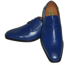 Antonio Cerrelli 6738 Mens Classy Sophisticated Cobalt Royal Blue Dressy Oxfords