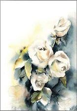 SOPHIA rodionov: Piedra Rosas III camilla-imagen de Pantalla flores, ACUARELAS