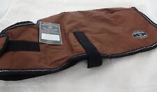 Windhorse Brown Dog Coat Warm Fleece Waterproof Winter Jacket Clothes Reflective