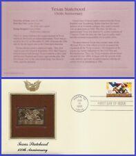 US #2968 U/A GOLDEN REPLICA FDC   Texas Statehood