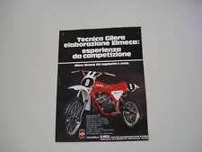 advertising Pubblicità 1978 GILERA ELMECA CROSS 125