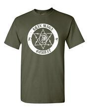 Krav Maga Combat CIRCLE IDF Israel Defence Martial Arts Men's Tee Shirt 1360