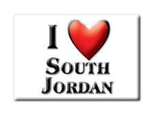 SOUVENIR USA - UTAH FRIDGE MAGNET I LOVE SOUTH JORDAN (SALT LAKE COUNTY)