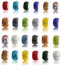 50PC Silver Czech crystal Shambala Beads Fit European Bracelet Charm wholesale