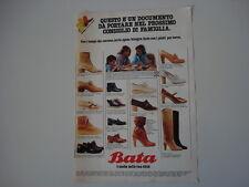 advertising Pubblicità 1978 SCARPE BATA