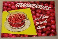 Eatmor Cranberries Sauce Salad Ice Box Cake Dessert Recipe Cook Book Booklet