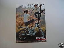 advertising Pubblicità 1977 MOTRON