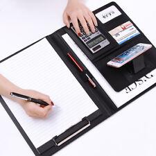 A4 PU Leather Clipboard Folder Organiser Holder Business Conference File Filofax