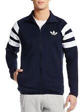 Men's New Adidas Originals Track Jacket Tracksuit Top Sweater Coat - Navy Blue