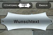 inox panneau pour porte plaque de sonnette Plaue XL ca.125x45 mm avec gravure