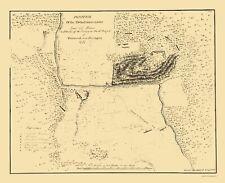 Old Revolutionary War Map - Baum Position At Walmscock New York 1777 - 23 x 31