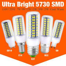 Ultra Bright 5730 SMD LED Corn Bulb Lamp Light Warm Cool White E27 B22 GU10 G9
