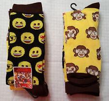 Men's Set of 2 Emoji Crew Socks- Size 10-13