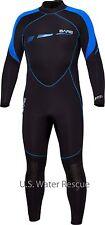 Wetsuit BARE 7mm Sport S-Flex, Blue Men's Neoprene Full Stretch Diving Wet Suit
