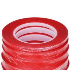 1mm/2mm/3mm/5mm/10mm Cinta Roja Resistente al Calor Pegatina Adhesiva de Doble Cara