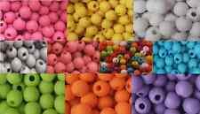 400 colore acrilico opaco Rotondo Satinato Perline 6mm
