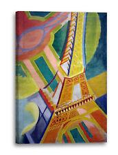 Lein-Wand-Bild Kunstdruck: Robert Delaunay Eiffel-Turm 1926