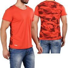 Redbridge Herren T-Shirt Freizeitshirt Rundhals Baumwolle Camouflage Used Ripped