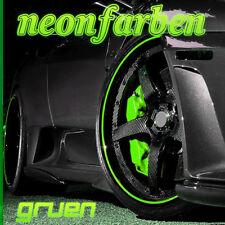 ░▒▓ NEON-GRÜN ▓▒░ Felgenrandaufkleber CLASSIC Felgenaufkleber Auto Motorrad