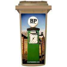 VINTAGE VERDE BP pompe di benzina Wheelie Bin Adesivo pannello