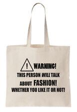 Fashion Tote Bag Designer Fashionista Hipster Cool Funny Shopper Birthday Gift