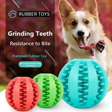 Dog Chew Ball Toy Rubber Dental Clean Teeth Healthy Treat Gum Bite Puppy Pet NEW