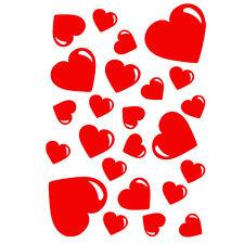 *  24  stickers Bulles en forme de Coeurs  -  12 couleurs au choix! *