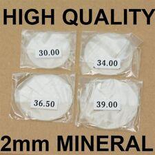 2mm spessore vetro cristallo minerale Occhiali piatto 30mm-40mm Grande Orologio Cristalli Nuovo