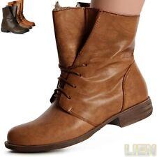 Donna Worker Stivaletti stivali Babbuccie Stivali con lacci